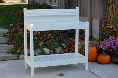 white potting bench dura trel greenfield potting bench white 6cows