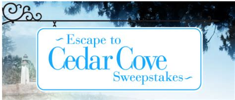Cedar Cove Sweepstakes - hallmark channel quot escape to cedar cove quot sweepstakes win a vacation home package in