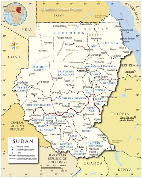 map of sudan administrative map of sudan nations project