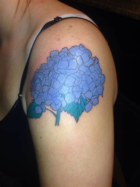 10th street tattoo hydrangea from 10th tattoos in atlanta for