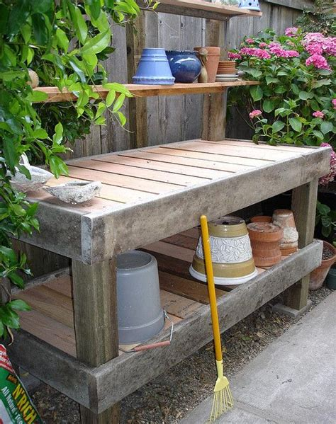 garden work bench with sink one day i d love a potting bench like this one but i would