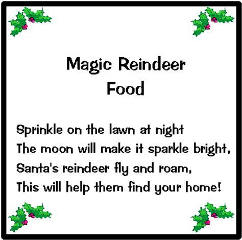 magic reindeer food poem template reindeer food tag new calendar template site