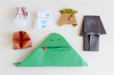 Wars Origami Finger Puppets - 15 origami paper crafts for to create make and takes