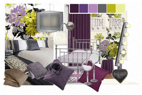 And Bedroom by Purple Yellow And Grey Bedroom Decosee
