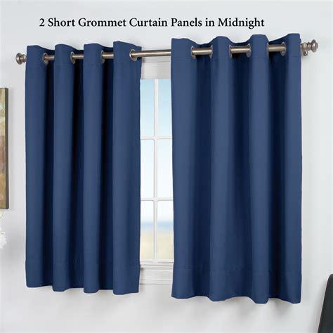 short panel curtains ultimate blackout short grommet curtain panels