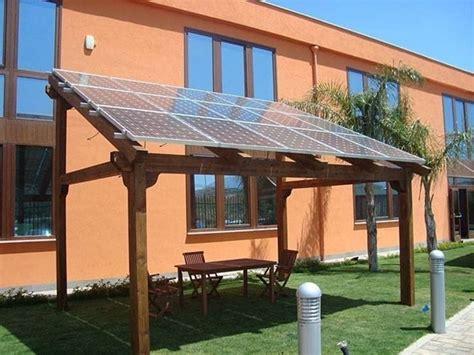 pannelli per tettoie pensiline fotovoltaiche in legno pergole tettoie