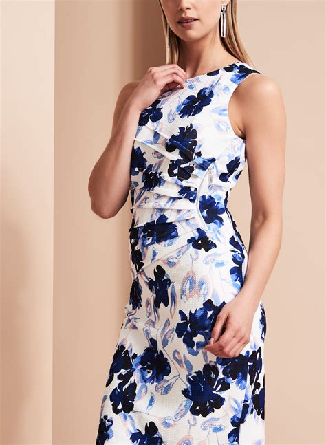 Branded Ivanka Scuba Floral Dress ivanka floral print scuba dress free shipping