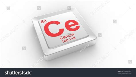 Ce Periodic Table by Ce Symbol 58 Material For Cerium Chemical Element Of The