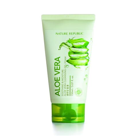Nature Republic Aloe Vera Soothing And Moisture Cleansing Gel Foam nature republic new soothing moisture aloe