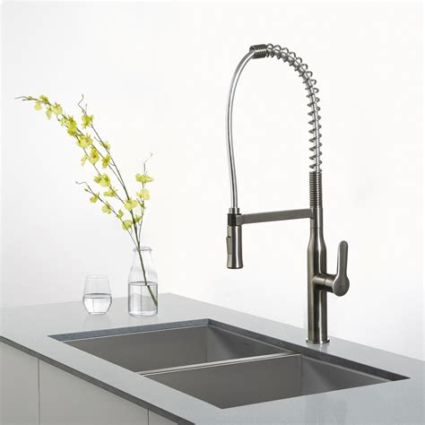 kitchen faucet pull out spray style railing stairs and