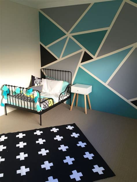 wall paint decor funky geometric designs paint wall boy room google