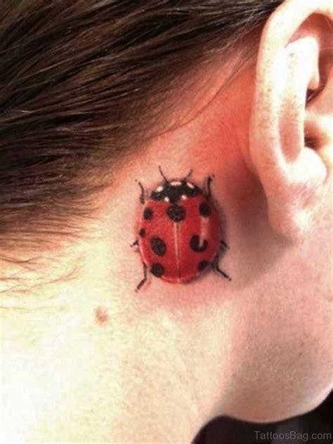 ladybug tattoo behind ear 16 attractive ladybug tattoos behind ears