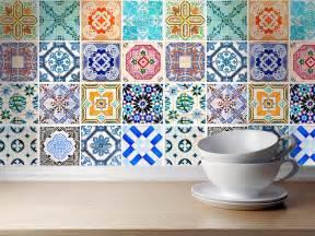Kitchen Backsplash Tile Stickers Autocollant Carrelage Traditionnel Mod 232 Le Espagnol Pack