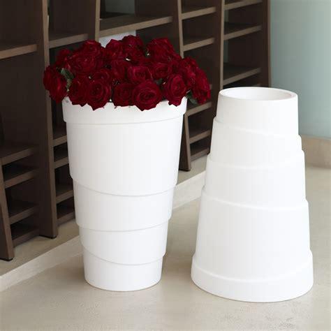 vasi bianchi da esterno vasi da giardino e casa in plastica zig zag nicoli