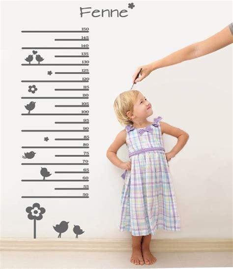 muursticker meetlat voor kids 2 met je eigen naam