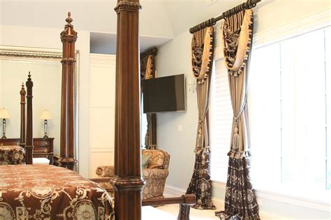 the curtain workroom luxurious room decor decorated with custom panels and