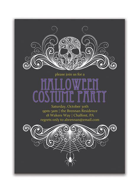 adult halloween party halloween party invitation adult costume party invitation