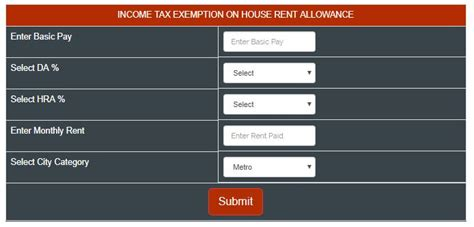hra comes under which section of income tax hra income tax exemption calculator for govt employees