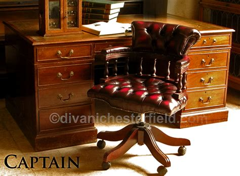 poltrone chesterfield poltrona chesterfield da ufficio captain girevole e