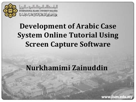 online tutorial recording software development of arabic case system online tutorial using