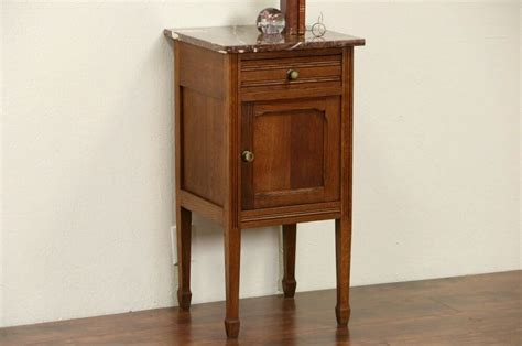 Antique Nightstands With Marble Top by Oak 1920 Antique Nightstand Marble Top Ebay