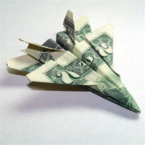 2 Dollar Bill Origami - dollar origami two dollar jet fighter f 18 hornet by beanytink