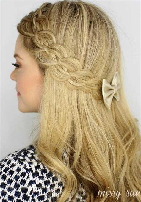 hairstyles half braids beautiful lacy braided half up half down hairstyle