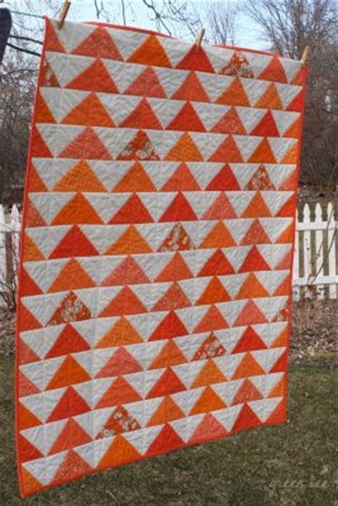 Orange Quilt Bee by Selvage Orange Quilts Plus A Free Tutorial