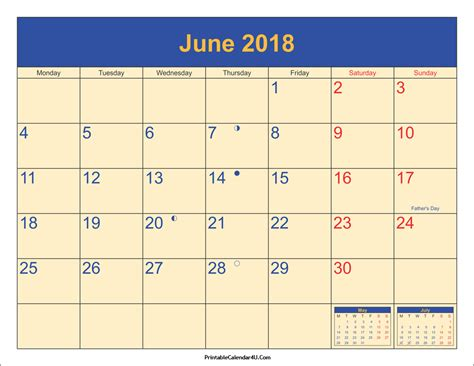 printable june 2018 calendar june 2018 calendar printable with holidays pdf and jpg