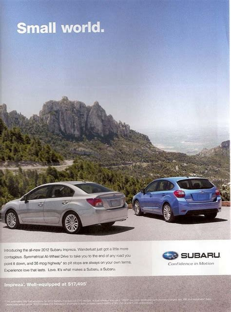 car ads in magazines 22 best subaru car ads images on subaru cars