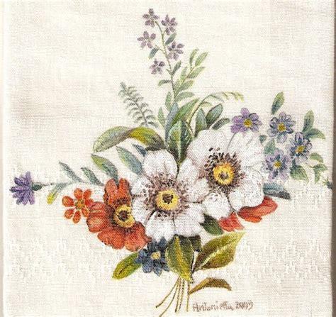 fiori da dipingere su stoffa bouquet di fiori dipinti su asciugamano pittura su