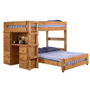 L Shaped Bunk Bed Chelsea Home L Shaped Bunk Bed With Desk And 5 Drawer Chest Reviews Wayfair
