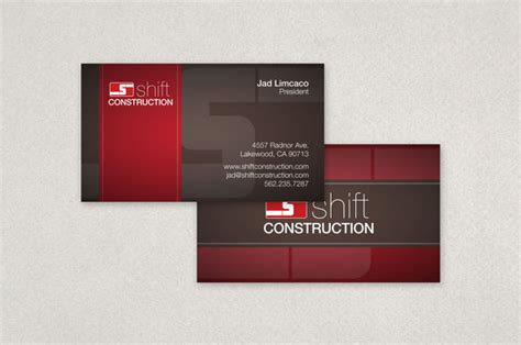 conqueror business card template business cards templates construction images card design