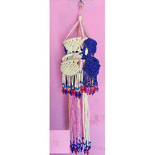 Handmade Jhumar - decorative handmade jhumar macrame with multi colour buy
