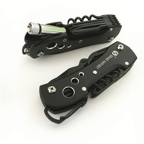 Titanium Multifunction Swiss Army Knife Hitam Omhz81bk titanium black multifunction swiss knife outdoor cing survival army folding knife edc multi