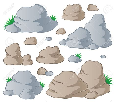Stones Clipart clipart rock pencil and in color clipart rock