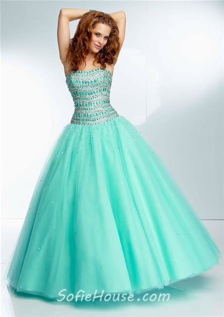 gown strapless coral tulle beaded prom