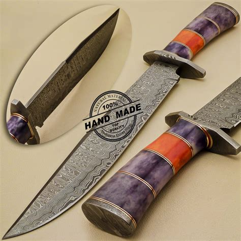 Handmade Custom - damascus dagger knife custom handmade damascus steel beautiful