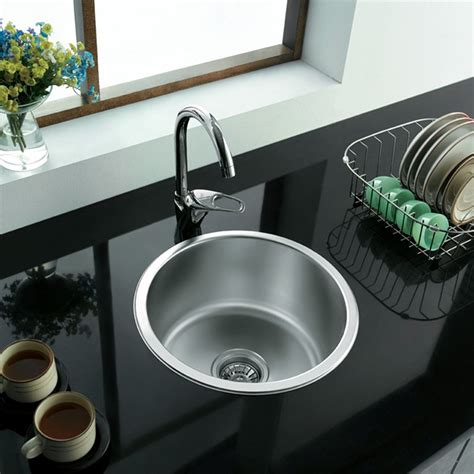single bowl kitchen sink top mount enki stainless steel 1 0 single bowl inset topmount
