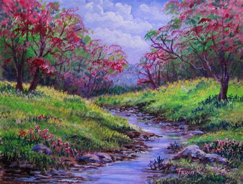 spring landscaping spring landscape paintings www imgkid com the image