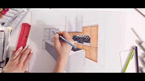 How To Find A Kitchen Designer by Interior Design Kitchen Drawn By Hand By Temza