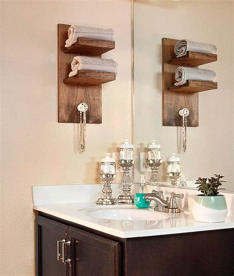 bathroom diy ideas 3 easy diy projects for a small bathroom upgrade towel