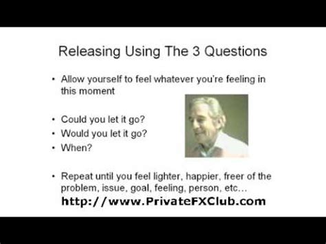 ways of using the 3 questions of the sedona method part 1