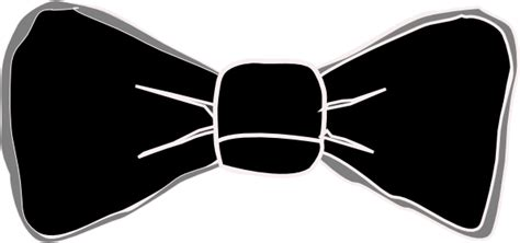 Black Bow Tie Clipart black and grey bow tie clip at clker vector clip royalty free domain