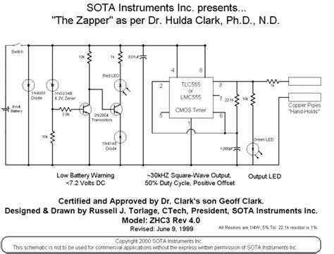 Hulda Clark Zapper Schematic | zapper schematics keelynet 01 10 02