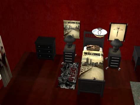 walking dead bed set rougue s designs for the sims 2 the walking dead