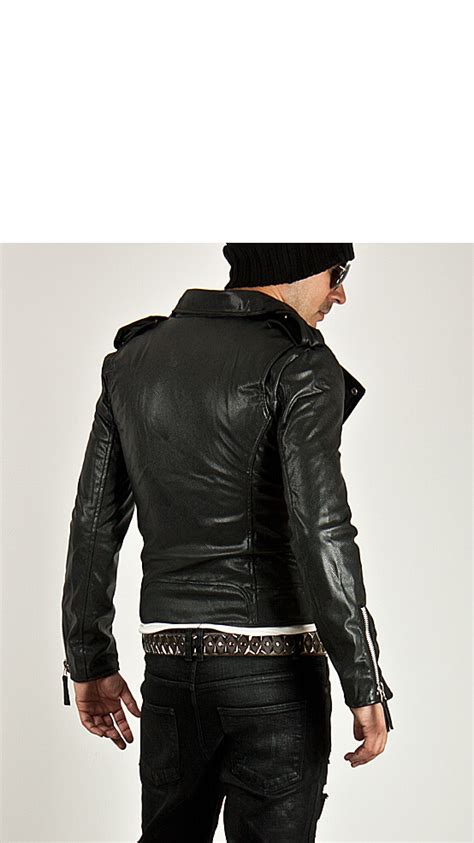 outerwear uber cool multi zipper accent slim leather rider jacket 33 for only 110 00