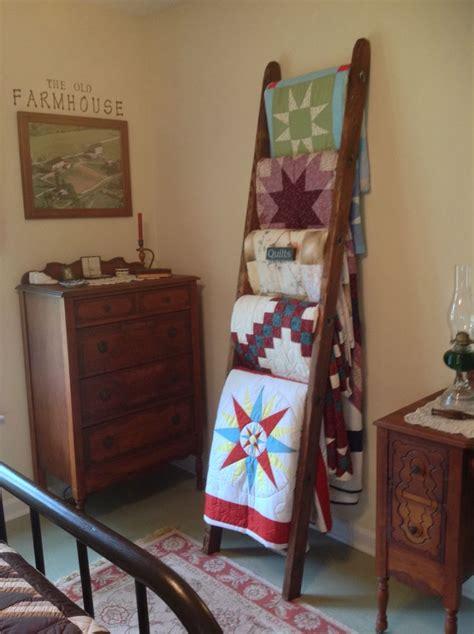 primitive ladder quilt rack plans diy