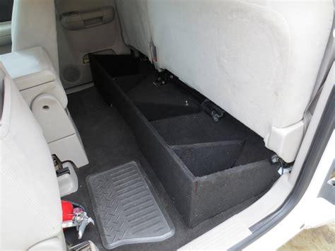 homemade truck cab silveradosierra com how to build a under seat storage
