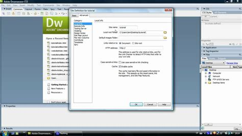 website rooting tutorial dreamweaver tutorial creating a site root folder